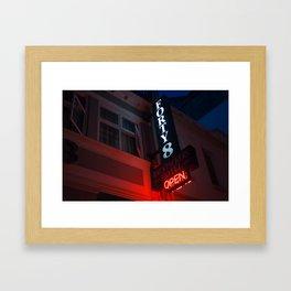 Backpackers Hotel Framed Art Print