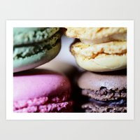 macaron Art Prints featuring Macaron by Alexis Clunet