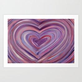 Heart Love Portal  Art Print