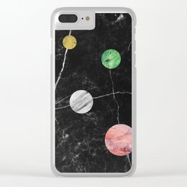 Marble Universe Clear iPhone Case