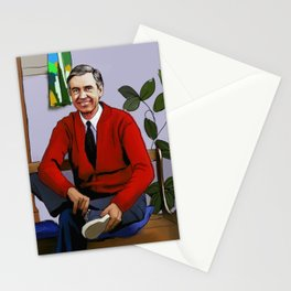 Will You Be My Neighbor Mr Rogers Fan Art Illustration Stationery Cards