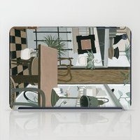 cafe iPad Cases featuring View from the Cafe by Yuliya