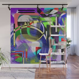 Try To Make Sense Of It All - Random, geometric, eclectic, abstract, colourful art Wall Mural