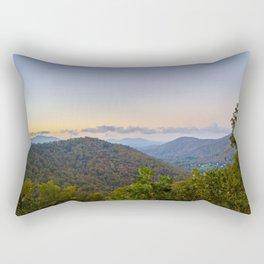 Sleepy valley town Rectangular Pillow