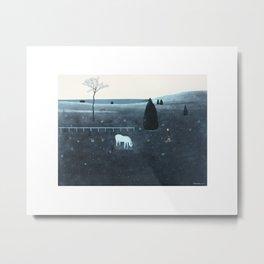Fluorescent horse Metal Print
