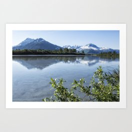Placer River at the Bend in Turnagain Arm, No. 2 Art Print