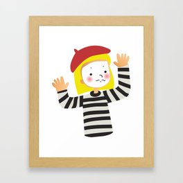 Le Mime Framed Art Print