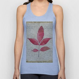 leaves. floral picture for home decor. Abstract Art. Wall art decorative 4 Unisex Tank Top