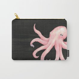 Pink Octopus Carry-All Pouch