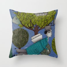 The Reading Tree Throw Pillow