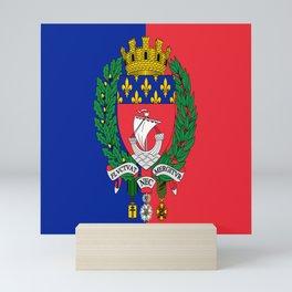 Flag of Paris 2 -Fluctuat nec mergitur Mini Art Print
