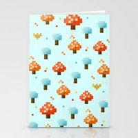 mushroom Stationery Cards featuring Mushroom by Kakel