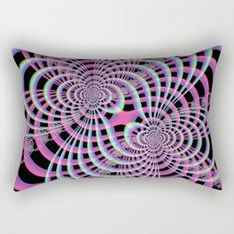Lattice in Blue and Pink Rectangular Pillow