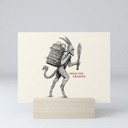 Gruss vom Krampus Mini Art Print
