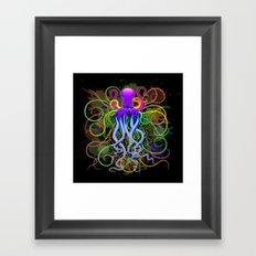 Octopus Psychedelic Luminescence Framed Art Print