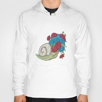 snail Hoodies featuring Snail by Guapo