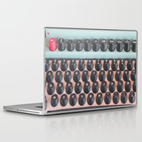 mad men Laptop & iPad Skins featuring Mad Men Typewriter by Kookyphotography