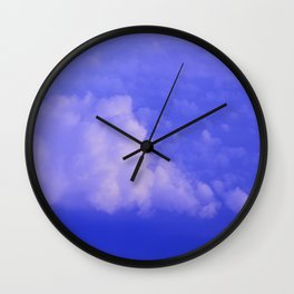 Aerial Blue Hues I Wall Clock