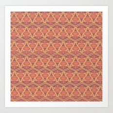 Faded Red Pattern Art Print
