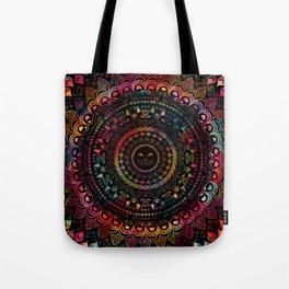 Rainbow Kitty Cat Mandala Tote Bag