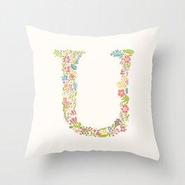 Alphabet U Throw Pillow