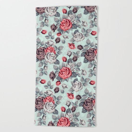 Flowers pattern2 Beach Towel