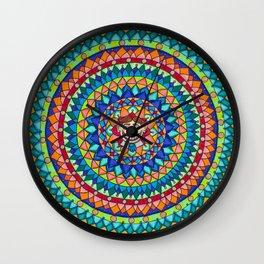 Tillie Mandala 2016 In White Wall Clock
