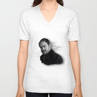 crowley V-neck T-shirts featuring Supernatural - Crowley The King of Hell ! by firatbilal