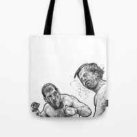 snatch Tote Bags featuring snatch by BzPortraits