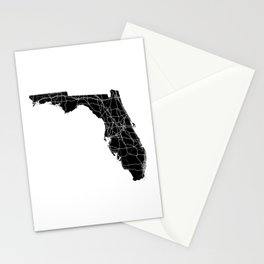 Florida Black Map Stationery Cards