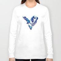mass effect Long Sleeve T-shirts featuring Mass Effect: Garrus Vakarian by Fiona Ng