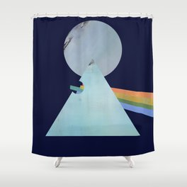 The Moon's Dark Side, prism, rainbow Shower Curtain