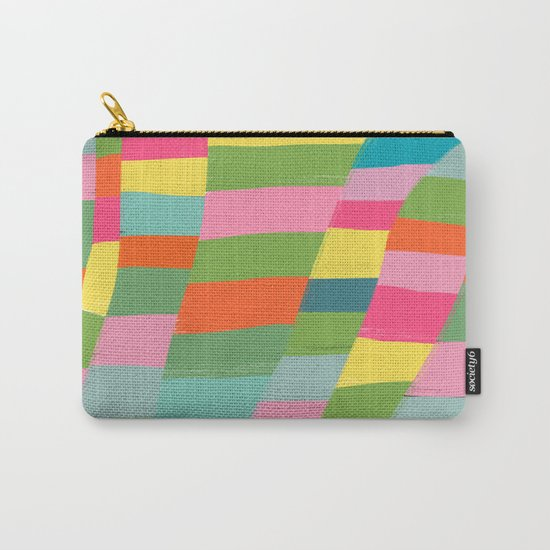 colorful patchwork 3 Carry-All Pouch