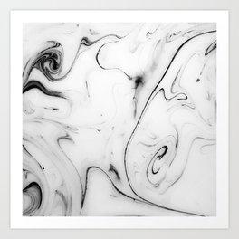 Elegant white marble image Art Print
