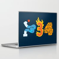 numbers Laptop & iPad Skins featuring Fantastic Numbers by Carlos Rocafort