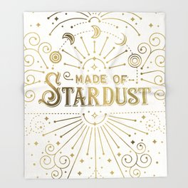 Made of Stardust – Gold Palette Throw Blanket