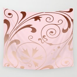 Rose Quartz Gold Komingo Wall Tapestry