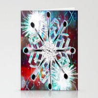 snowflake Stationery Cards featuring Snowflake by Sarah Maurer