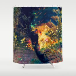 Portrait of a Woman: We Are Flowers Shower Curtain