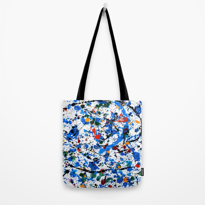 Abstract #23 - Frenzy in Blue Tote Bag