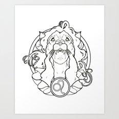 Zodiac Series | Leo Art Print