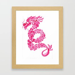 Red Chinese Dragon Framed Art Print