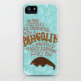 Pangolin iPhone Case