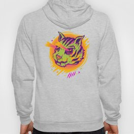 Vintage Style Psychedelic Cat Sees through Walls Hoody