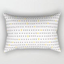 yellow and grey blocks Rectangular Pillow