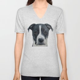 Rescue Dog series, Dice by miart Unisex V-Neck