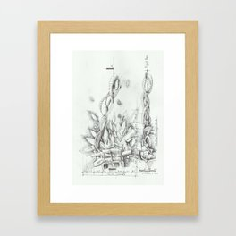 Abstracted Fire Framed Art Print