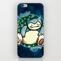 snorlax iPhone & iPod Skins featuring 142 - Snorlax by Lyxy