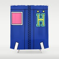 iwatobi Shower Curtains featuring Haru Jacket  by Bunny Frost