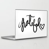 grateful dead Laptop & iPad Skins featuring GRATEFUL by I Love Decor